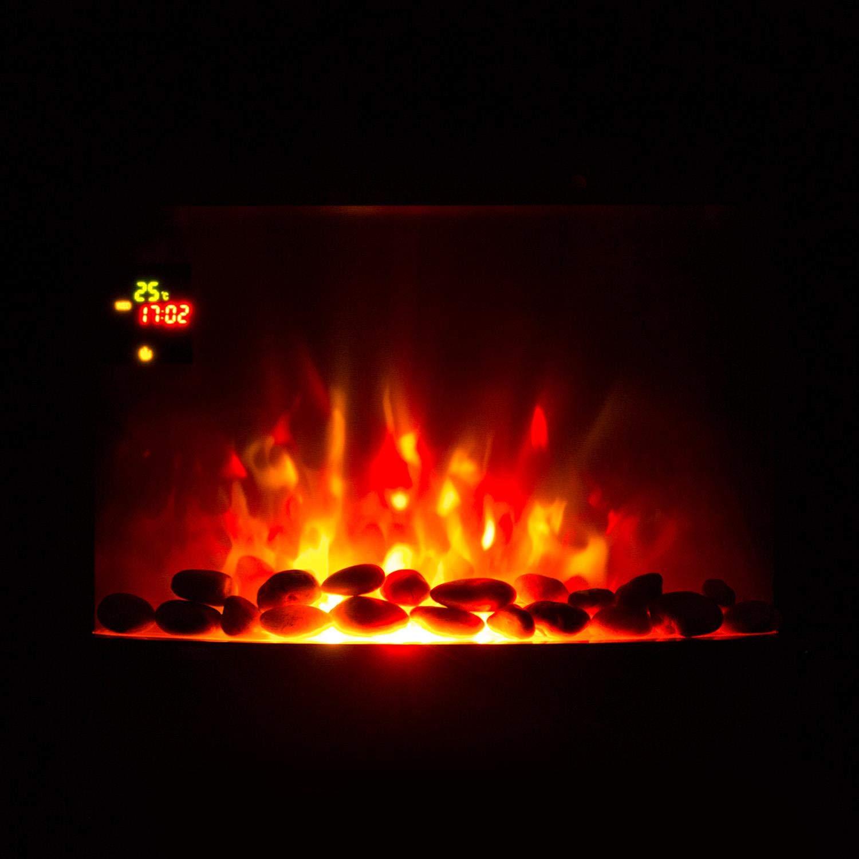 elektrischer Heizl/üfter Wochentimer schwarz Flammenillusion Fernbedienung KLARSTEIN Feuerschale 1800 W 2 Heizstufen Elektro-Wandkamin Adaptive Startsteuerfunktion