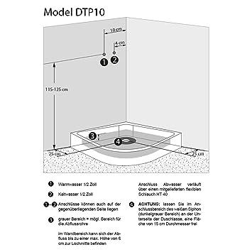 AcquaVapore DTP8058-1301 Dusche Duschtempel Komplett Duschkabine 90x90 Th