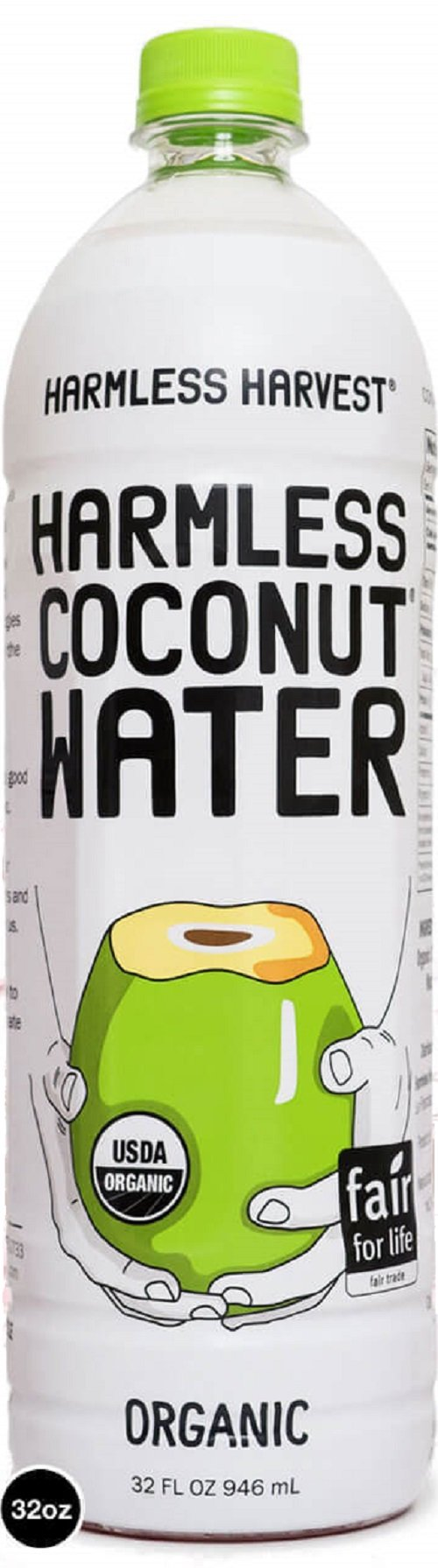 Harmless Harvest Raw Coconut Water, 32 Fluid Ounce (pack Of 06)