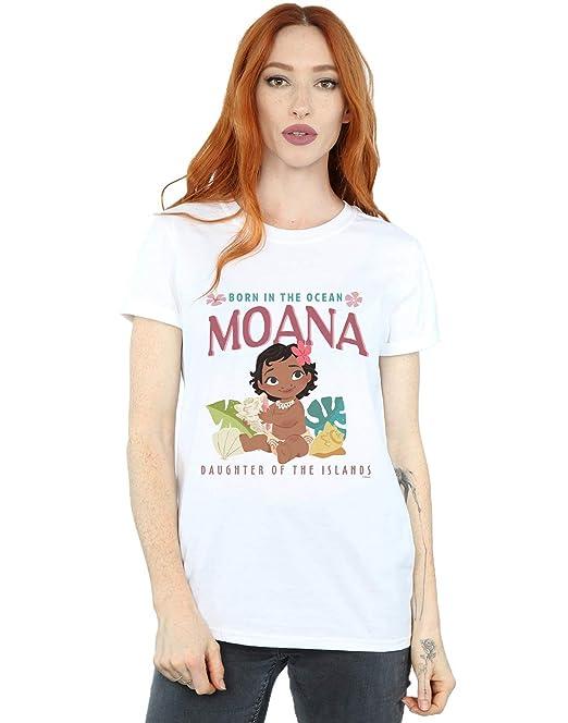 Disney Mujer Moana Born In The Ocean Camiseta del Novio Fit: Amazon.es: Ropa y accesorios