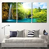 H.COZY 3 pieces canvas prints Christmas decorated canvas landscape painting between paints living room wall art (unframed) far24 12x20 inch