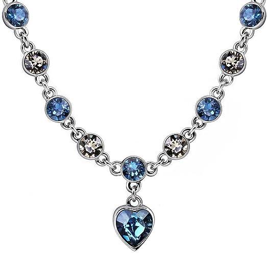 ca84a9ef50385 Starshiny Love Heart Swarovski Elements Crystal Necklace Adjustable Choker  Necklace Jewelry Gift