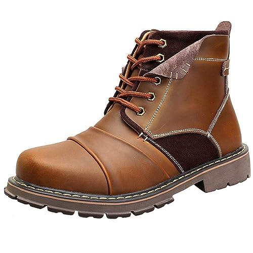 Yaer Botines para Hombres, Encajes La Seguridad Botas De Trabajo: Amazon.es: Zapatos y complementos
