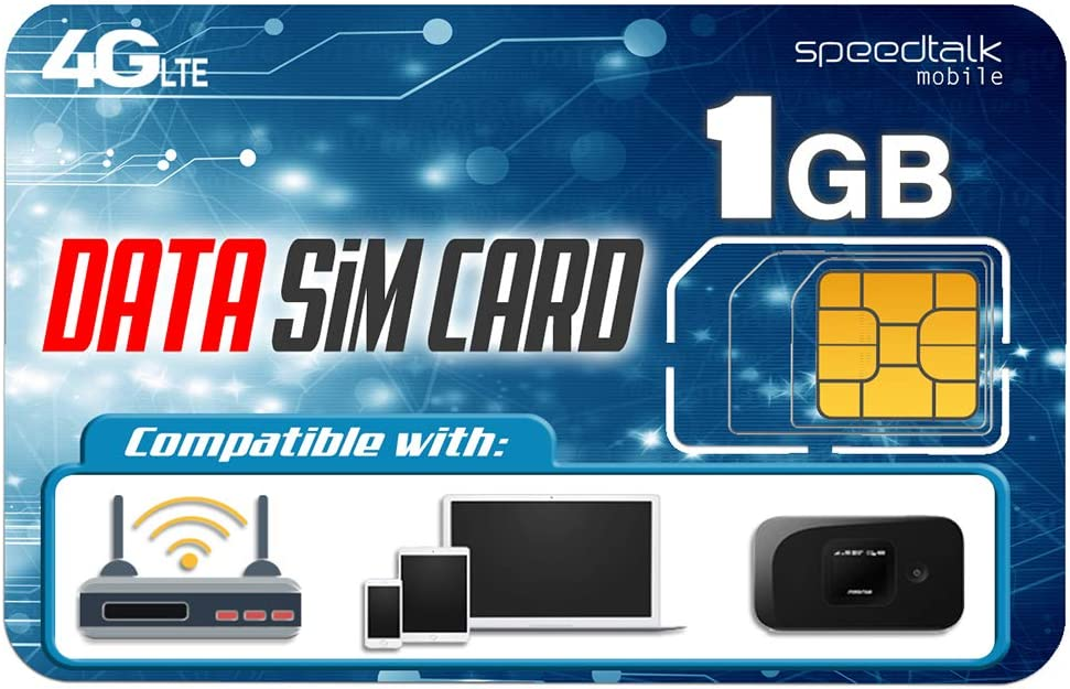 Amazon Com 1gb Data Only Sim Card 30 Days No Contract Service 4g Lte Usa Nationwide Domestic And International Roaming