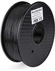 ELEGOO Filamento per Stampante 3D PLA, Precisione dimensionale +/- 0,03 mm, Bobina da 1 kg, 1,75 mm, Nero