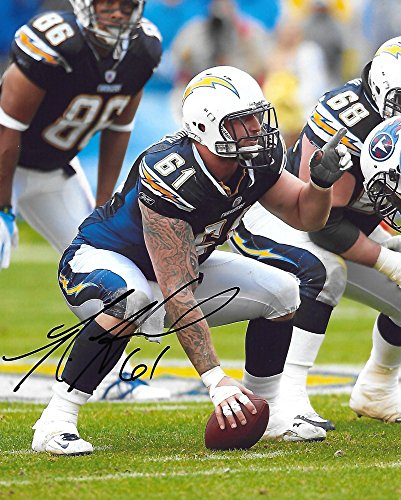 Ladainian Tomlinson Autographed Pro Football (Nick Hardwick,San Diego Chargers, Signed, Autographed, 8X10 Photo, a COA with the Proof Photo of Nick Signing Will Be Included.)