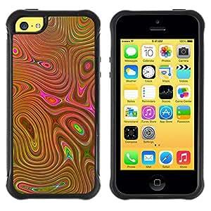 "Pulsar iFace Series Tpu silicona Carcasa Funda Case para Apple iPhone 5C , Setas Lcd psicodélico Cd Oro"""