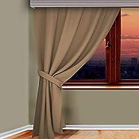 Bundera Tek Parça Fon Perde 80x270cm Kumaş Tek Kanat Fon Perde Dekoratif Güneşlik Salon Mutfak Perdesi