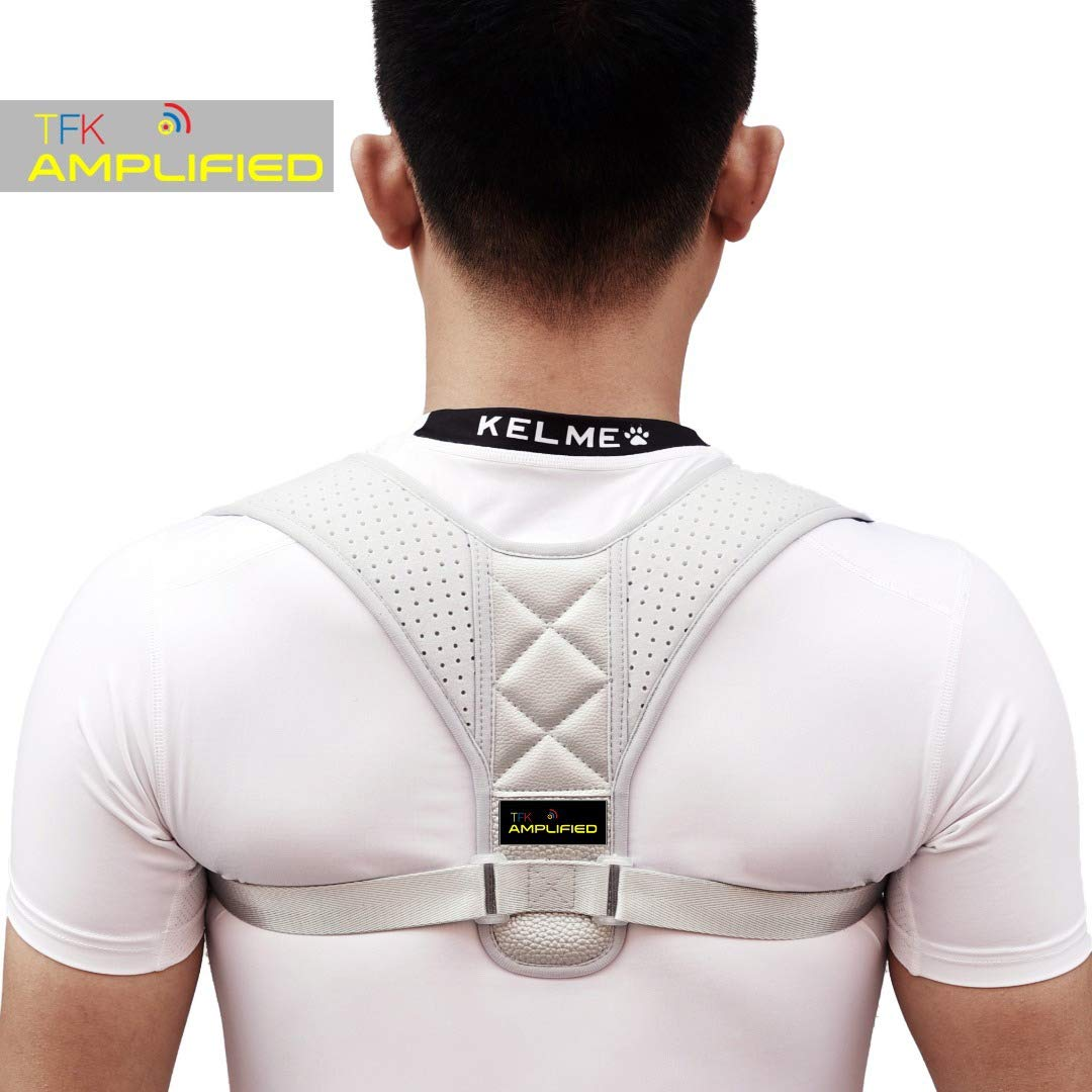 Posture Corrector for Men and Women - Upper Back and Neck Support for Natural Pain Relief - back support brace for women and men - upper adjuster Back & Shoulder -Includes Bonus Therapy Band