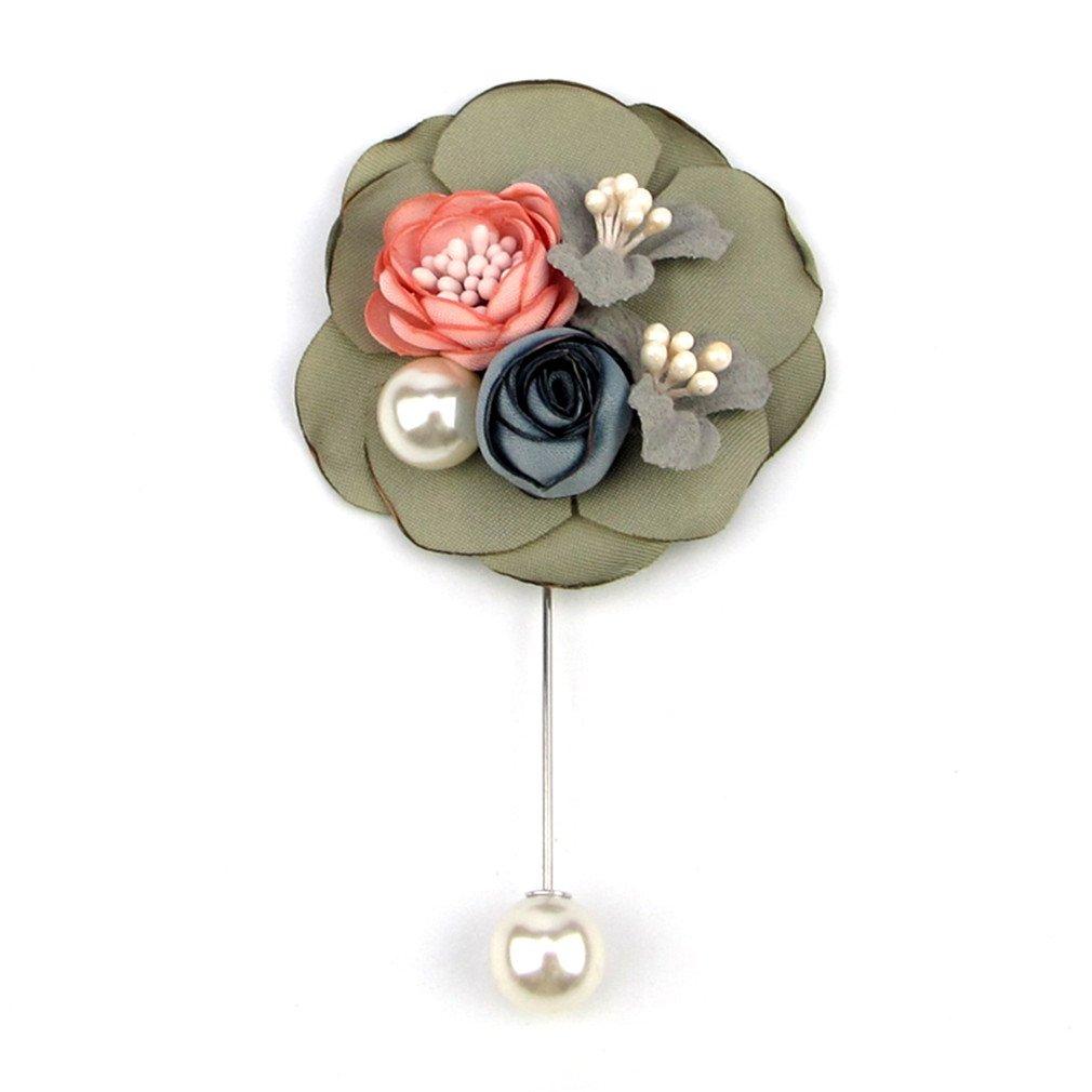 Amazon com: Women Brooches Fabric Flowers Lapel Pin Wedding