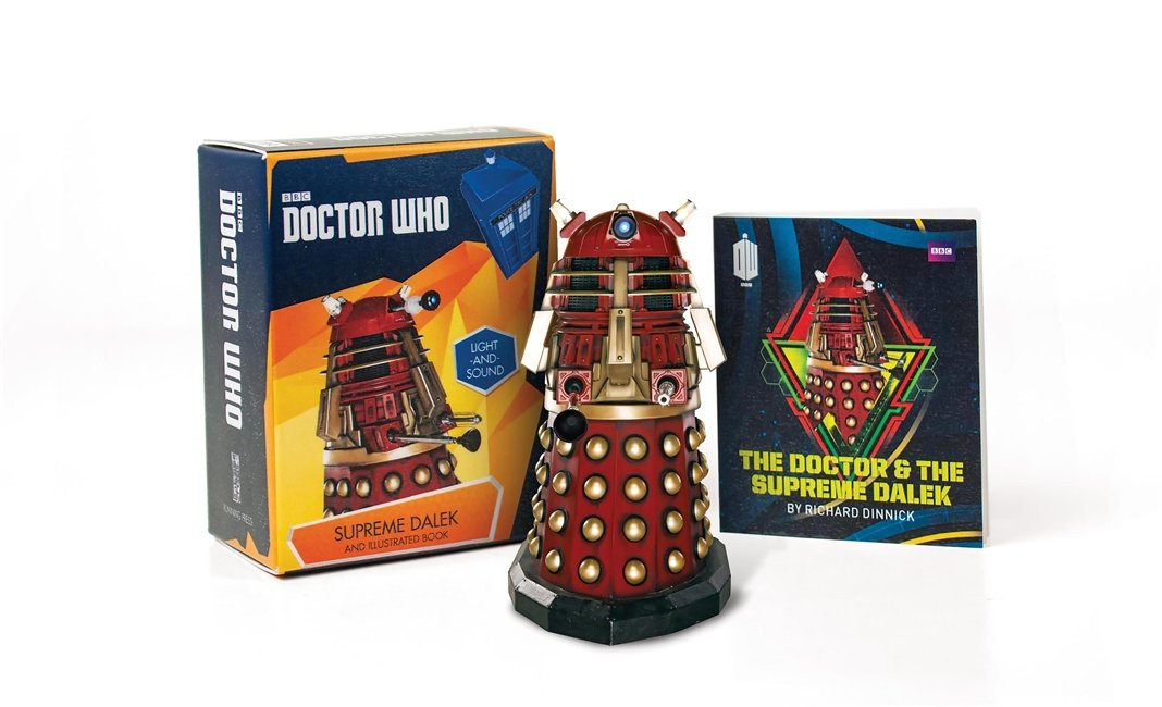 Doctor Who  Supreme Dalek And Illustrated Book  With Light And Sound  RP Minis