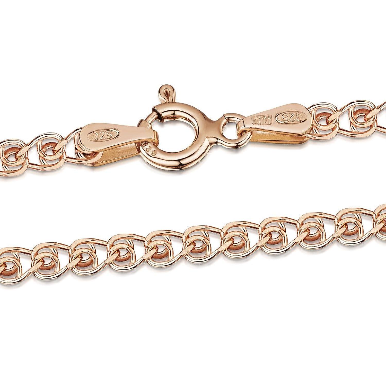 1e25e6403941 Lovely Amberta Joyería - Collar - Fina Plata De Ley 925 - 14K Rosa Chapado  en