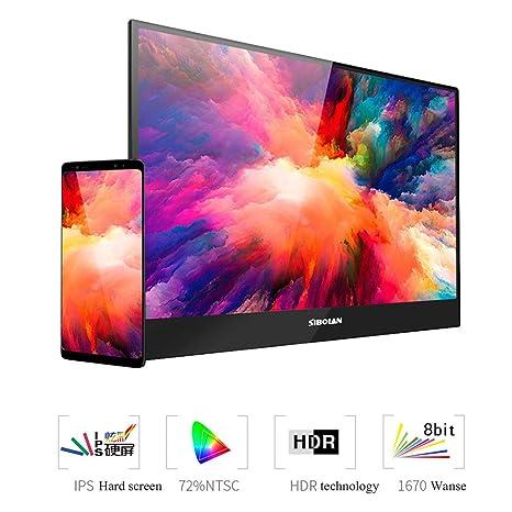 ANDE Monitor portátil para Juegos de 13.3 Pulgadas, Full HD ...