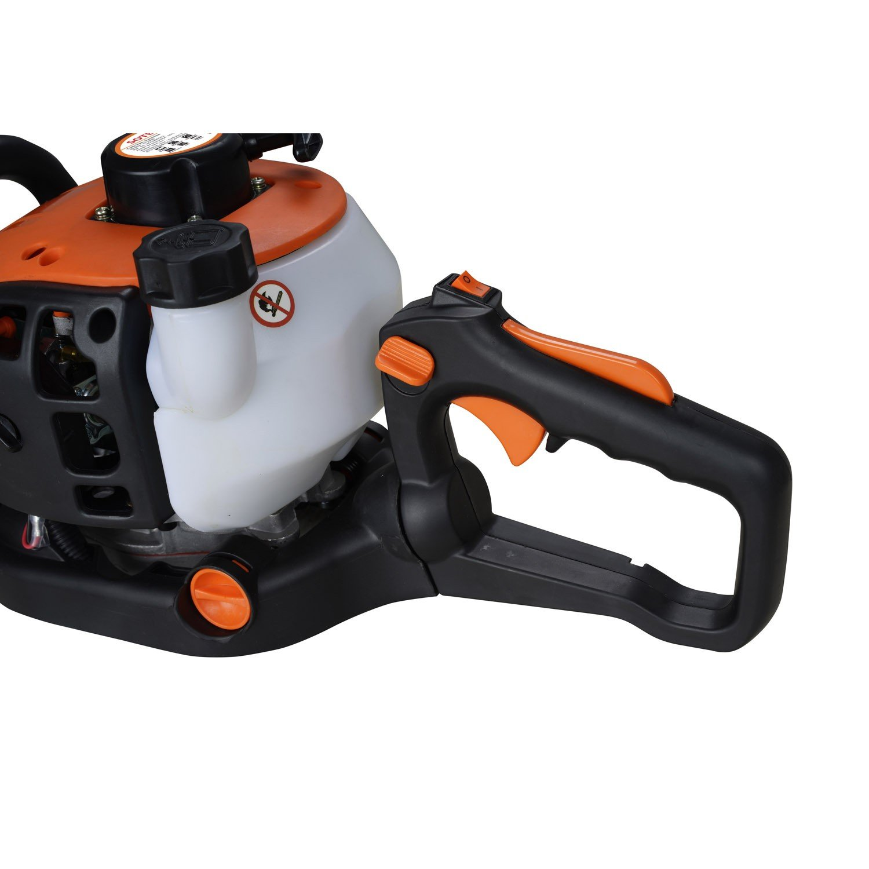Todeco - Recortasetos, Cortasetos - Desplazamiento del motor: 22,5 cm³ - Longitud de la cuchilla: 60 cm - Naranja