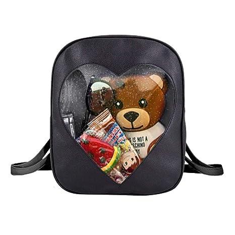 Amazon.com  Heidi Bag Clear Candy Backpacks Teenager Ita Bag Transparent  Love Heart School Bags Girls Kids Satchel  Heidi Bag f030e3a62366f