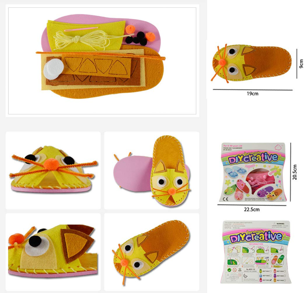 Yellow MeGaLuv Kids Sewing Kit for Girls Beginners My First Sewing Kit Handmade Craft Gifts by