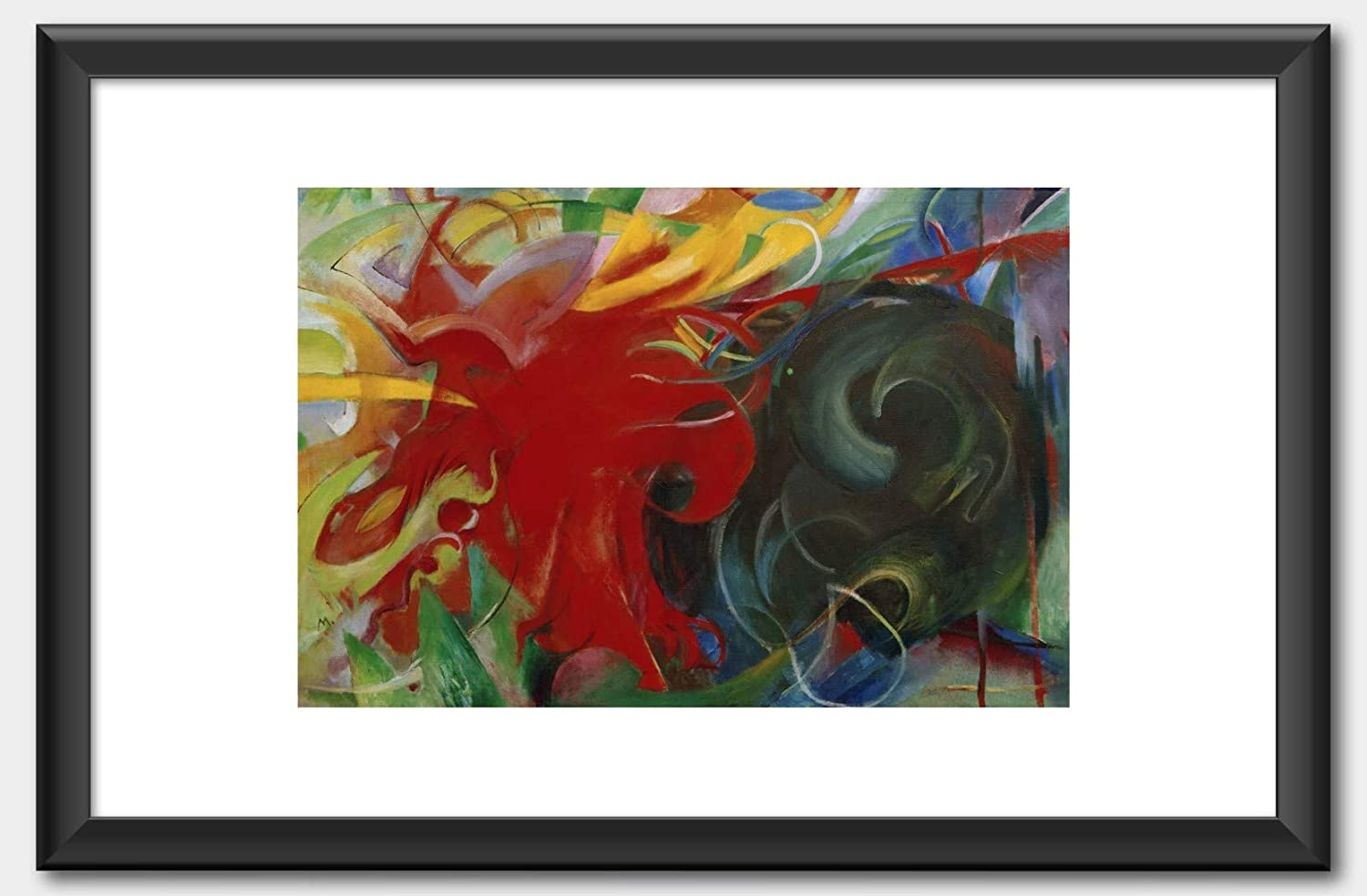 Franz Marc Abstract Forms I Fighting forms 1914 Print 60x91.5cm
