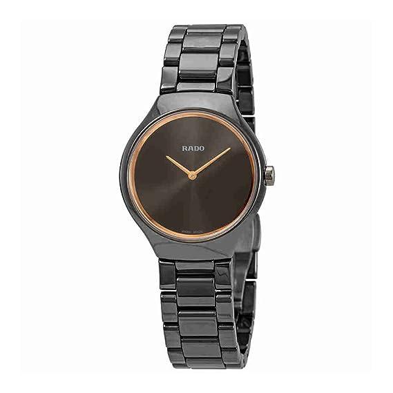 Rado True Thinline Reloj de mujer cuarzo 30mm correa de cerámica R27956132