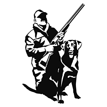 amazon express yourself products duck hunter and lab wall decal Lab Cart image unavailable