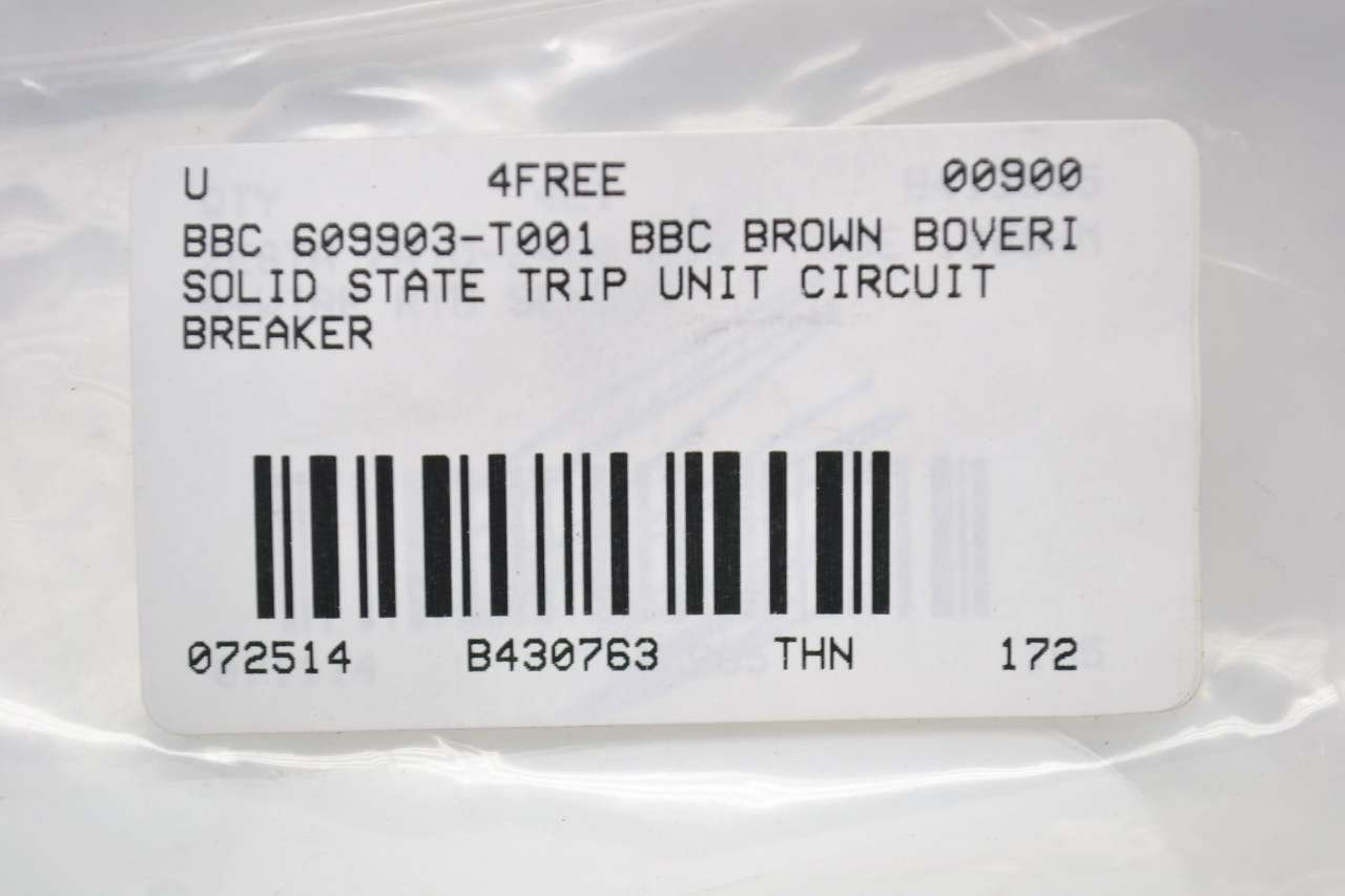 Bbc 609903 T001 Ss Brown Boveri Solid State Trip Circuit Breaker Corporation Br120af Single Pole Arc Fault 20amp B430763 Industrial Scientific