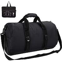 Lumbor37 Bolsa de Viaje y Deporte de Lona Plegable, Mochila Unisex, Gym Duffle Bag 52cm 40L, con Correa de Hombro Extraíble para Mujeres y Hombres