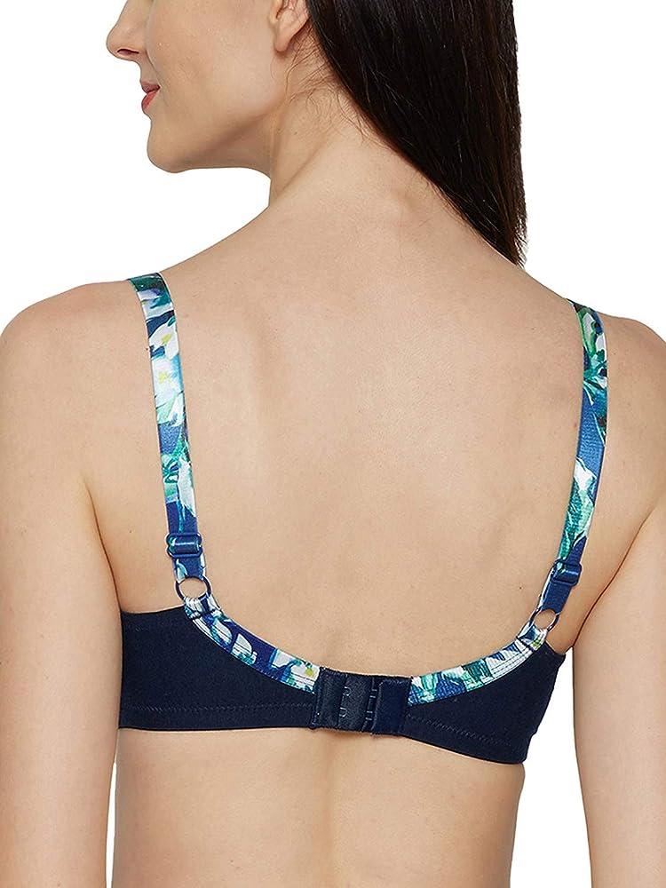 Inner Sense Sujetador de algodón orgánico y Saludable, Acolchado, para Mujer [Correa Impresa, sin Alambre, Balconette] Azul Azul Marino 95B: Amazon.es: Ropa y accesorios