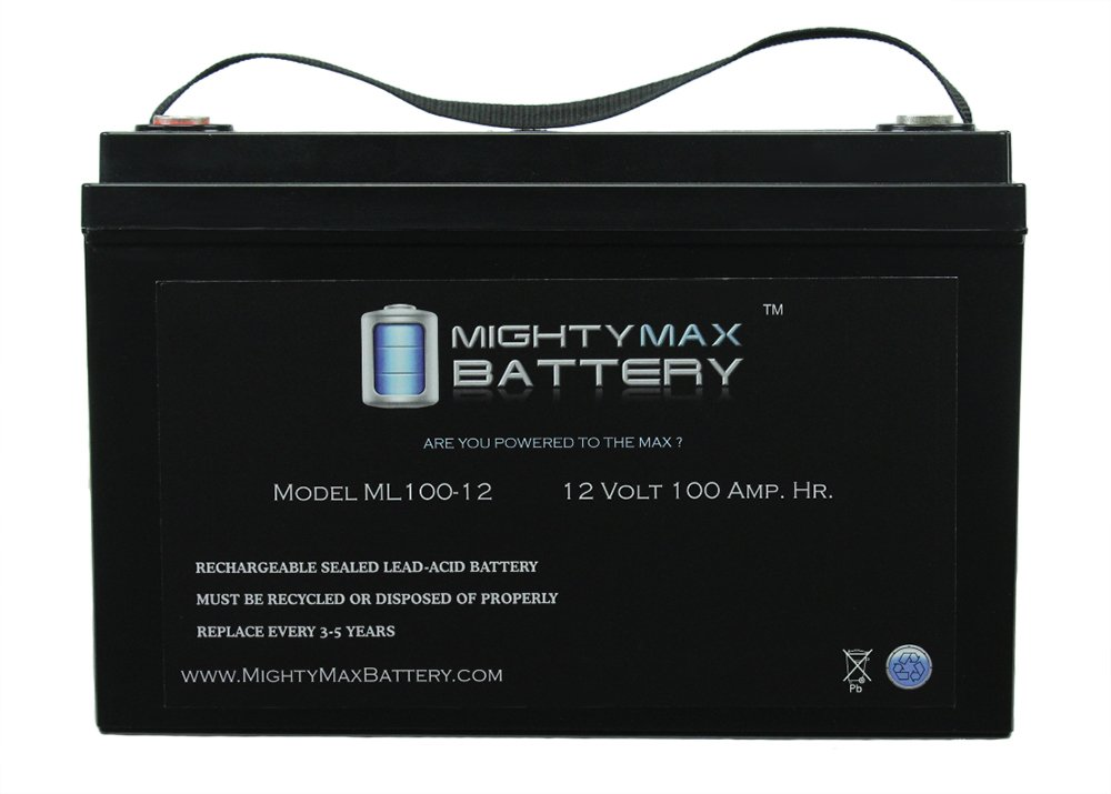 12V 100Ah SLA Battery for Pride Mobility Pursuit XL Scooter #SC714 - Mighty Max Battery brand product