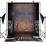 MEETS Backdrop 5x7ft Music Recording Studio Graffiti Brick Wall Photo Video YouTube Studio Photography Background MT006