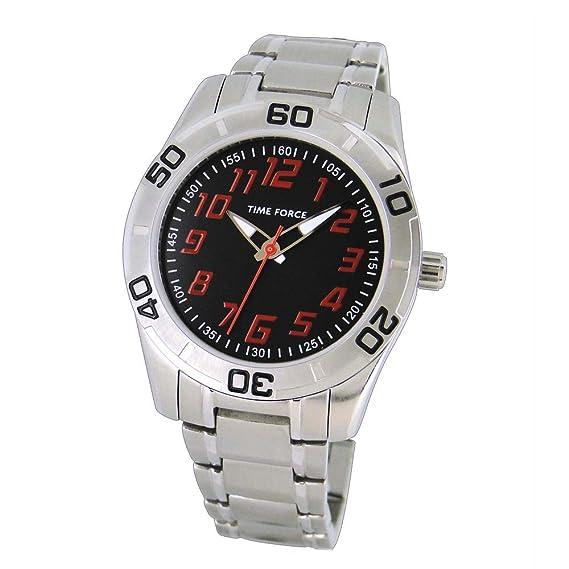 Time Force Reloj Analógico para Niños de Cuarzo con Correa en Acero Inoxidable TF4134B04M: Amazon.es: Relojes