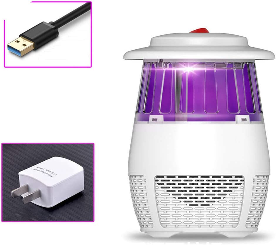 Electric Mosquito Insect Killer Zapper USB UV LED Lamp Fly Bug Trap Pest Control
