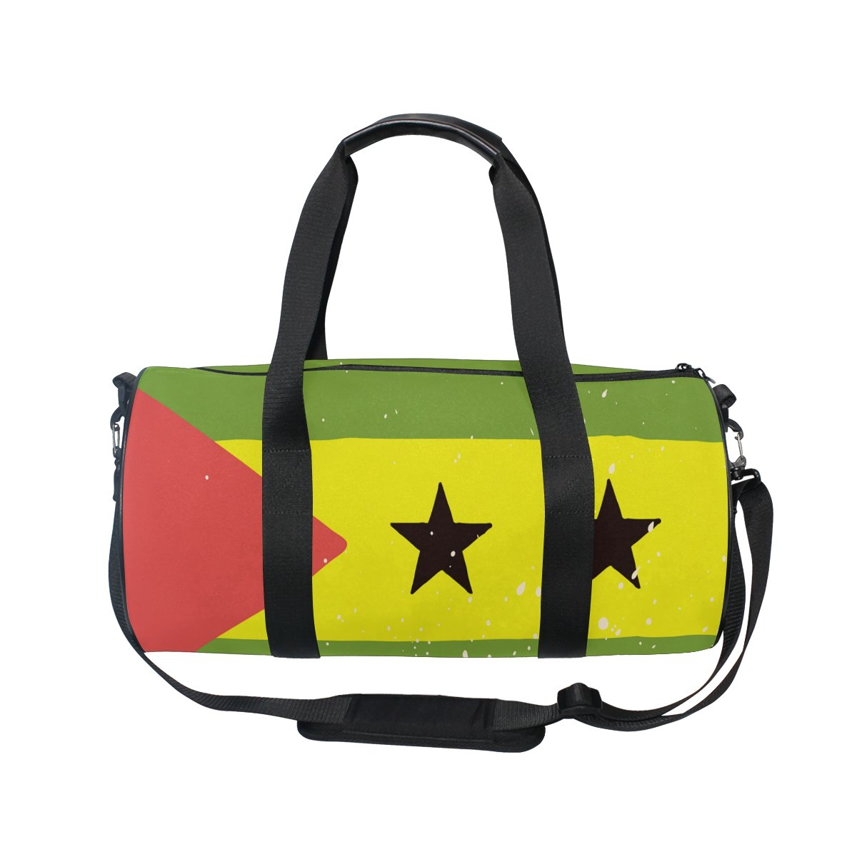c14ddcf861 Amazon.com: Distressed Sao Tome And Principe Flag Travel Duffel Shoulder Bag  ,Sports Gym Fitness Bags: fashion styles