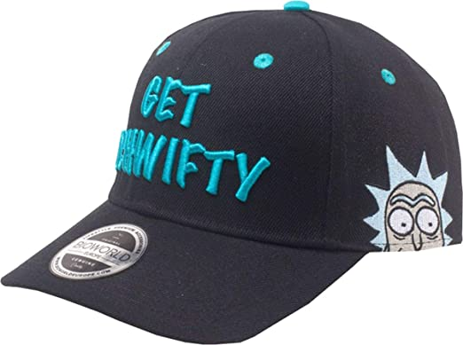 Image Unavailable. Image not available for. Colour  Rick and Morty  Embroidered Get Schwifty Curved Bill Cap ... 01427a0d1a90