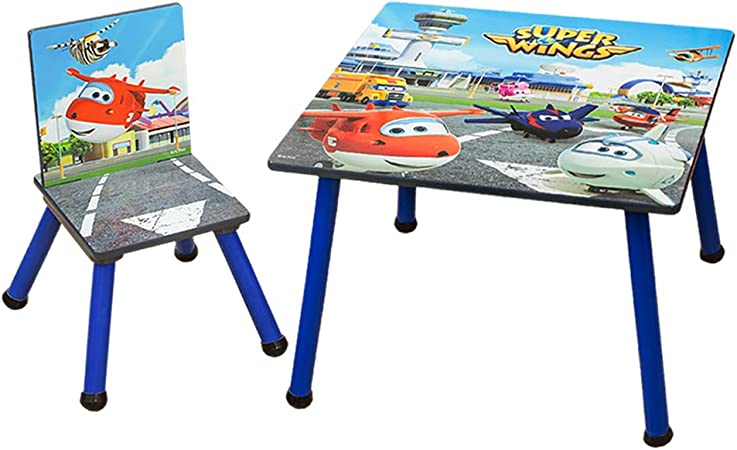 HS-Lighting - Juego de mesa infantil con sillas de madera para niños y niñas: Amazon.es: Hogar