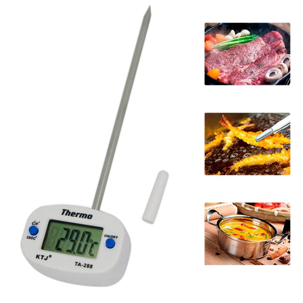 Sinwo Kitchen Digital Food Cooking Thermometer Instant Read Meat Thermometer For Cooking BBQ (A)