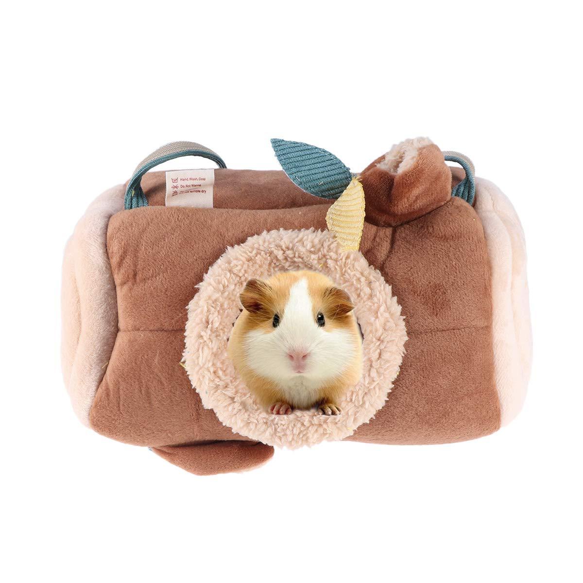 POPETPOP Ferret Hammock-Stump Hanging Guinea Pig Hamster Squirrel Bed Hammock for Cage Small Animal Rabbit Chinchilla Bed House for Rat Hedgehog Snuggle Sack