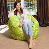 Style Crome Scroll Design, HD Printed Bean Bag Cover Filled With Bean, Size XXL