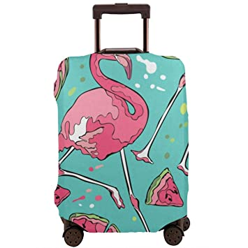 Flamingo Pattern Print Luggage Cover Travel Suitcase Protector Fits 18-21 Inch Luggage