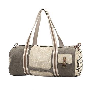 15bf91356012 Myra Bag Hand-Made Upcycled Canvas & Denim Duffle Travel Bag S-1000