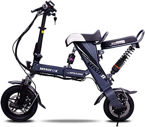 Xiaomu Bicicleta eléctrica Plegable Ligera y de Aluminio, Ruedas ...