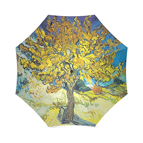Vincent Van Gogh Painting Folding Windproof outdoor Travel Umbrella for Women