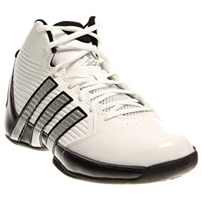 adidas basketball shoes white. new adidas men\u0027s commander td 5 basketball shoes white/silver/black 6 white