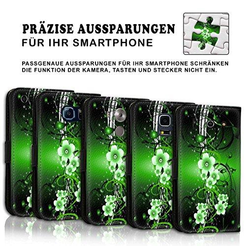 Wallet Book Style Flip Handy Tasche Case Schutz Hülle Schale Motiv Etui für Apple iPhone 4 / 4S - Design Flip MVD353
