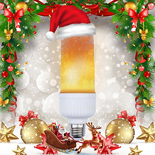 Christmas Lights Fb Cover - Flame bulb, LED Flame Flickering Effect Fire Light Bulbs, E26 Simulated Decorative Atmosphere Lamps for Hotel/ Bars/ Home Decoration on Christmas Festival(Pack of 1)