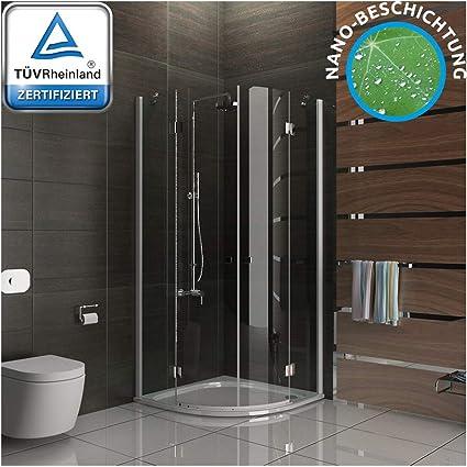 Cabina de ducha de 6 mm Easy Clean Vidrio Mampara De 100 x 100 x 195 cm redondo ducha con Nano Cristal: Amazon.es: Bricolaje y herramientas