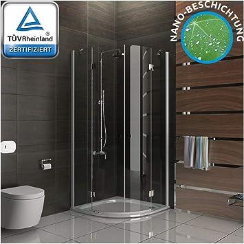 Diseño redondo de cristal ducha mampara de 80 x 195 con cal/easy clean glass: Amazon.es: Bricolaje y herramientas