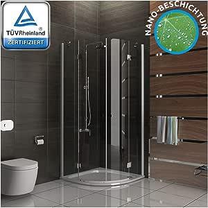 Cabina de ducha de 6 mm Easy Clean Vidrio Mampara De 100 x 100 x ...