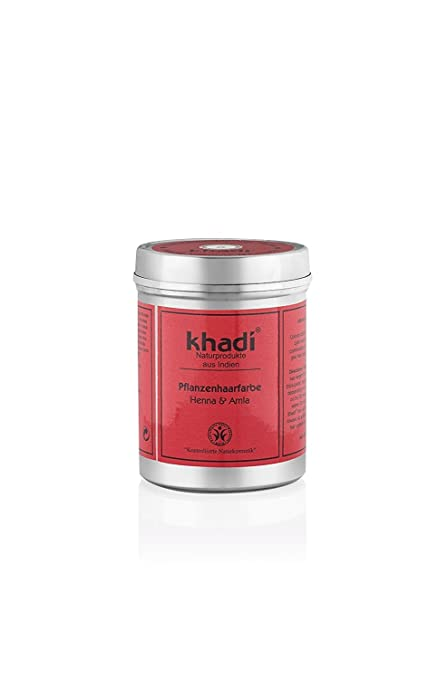 Tinte Henna&Amla -Anaranjado Claro o Caoba Oscuro -Ideal para Canas -150g- Khadi