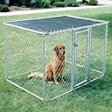 MidWest Homes for Pets Chain Link Portable Kennel – Includes a Sunscreen For Sale