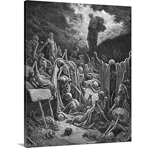 GREATBIGCANVAS Gallery-Wrapped Canvas Entitled The Vision of The Valley of Dry Bones, Ezekiel 37:1-2, Illustration by Gustave Dore 29