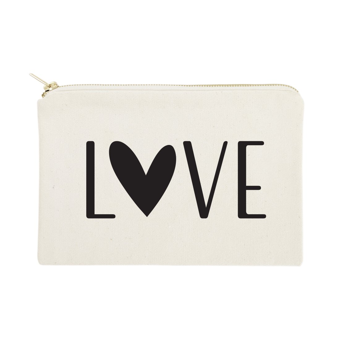 The Cotton & Canvas Co.LoveCosmetic Bag and Travel Make Up Pouch